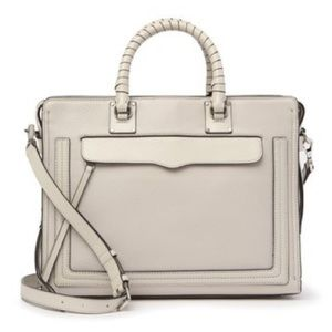 Rebecca Minkoff Bree Large Gray Leather Satchel